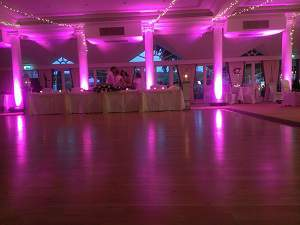 Wedding led up lighting